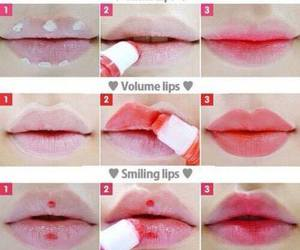 diy, lips, and red image