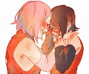 sakura and sarada image