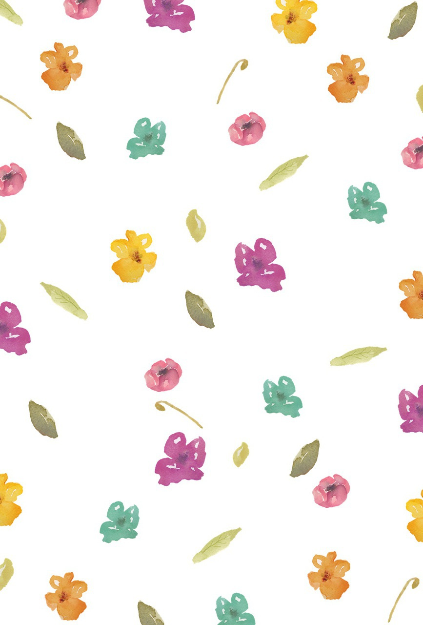 Watercolor Flowers Iphone Wallpaper Discovered By Rebee Martinez
