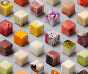fancy food and fruit cubes image