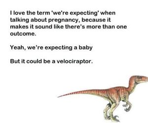 funny, baby, and dinosaur image