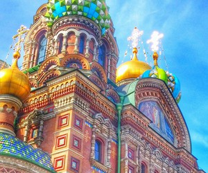 church, saintpetersburg, and russia image