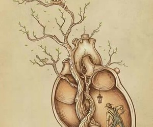 heart, art, and tree image