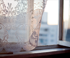 window, vintage, and lace image