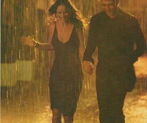 rain, romance, and love image