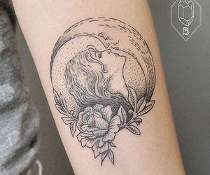 tattoo, moon, and art image