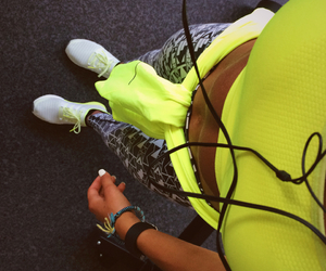 fitness, me, and neon image