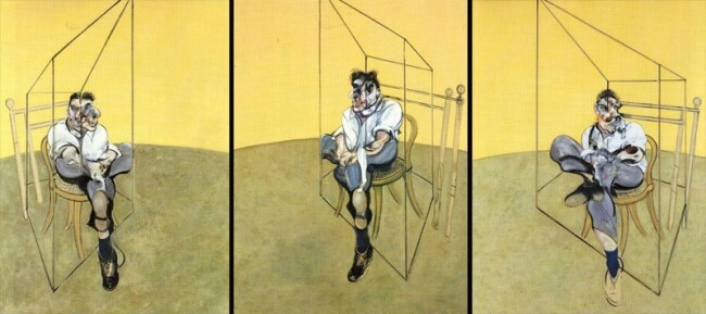art, Francis Bacon, and Lucian Freud image