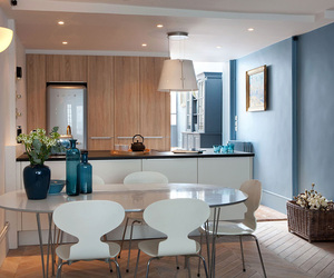 blue, chic, and decor image
