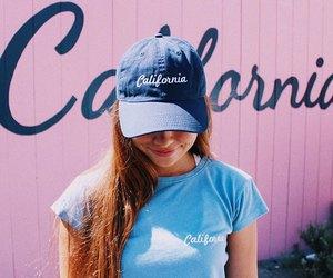 california, girl, and pink image