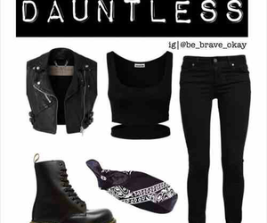 outfit, divergent, and fashion image