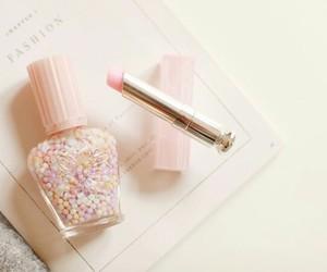 pink, girly, and lipstick image