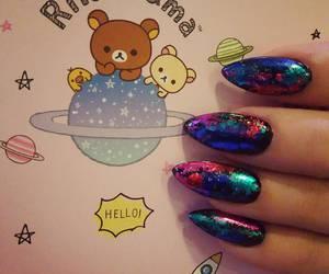 elegant, galaxy, and manicure image