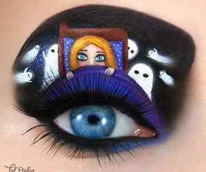 art, eye, and makeup image