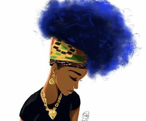 black woman, fashion illustration, and hair *_* image