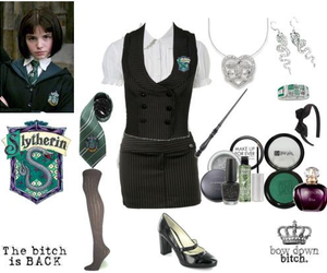 fashion, slytherin, and style clothes image