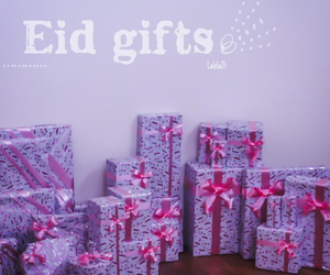 eid, gift, and gifts image