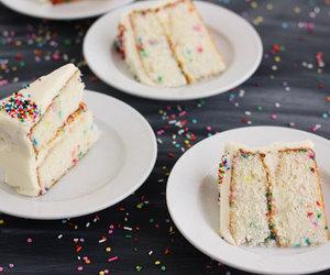 cake, cream cheese, and funfetti image