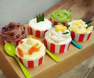 cherry, chocolate, and cupcake image