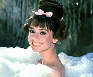 audrey hepburn, audrey, and bath image