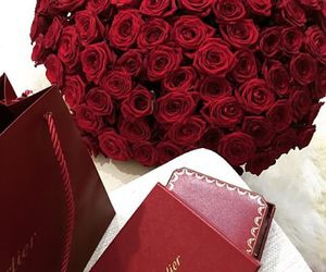 cartier, flowers, and luxery image