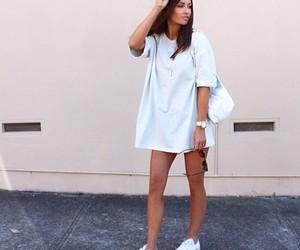dress, fashion, and sweater image