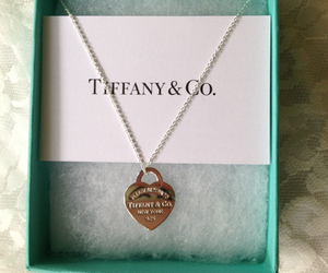 heart, necklace, and Tiffanys image