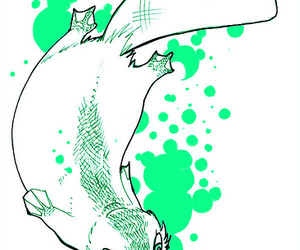 animal, drawing, and green image