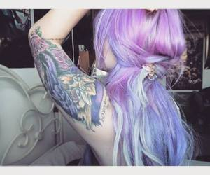 colored hair, girl, and purple image