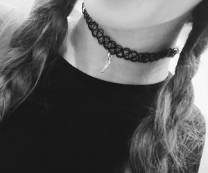 b&w, blackandwhite, and necklace image