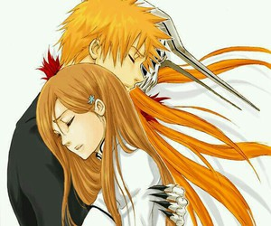 bleach, anime, and orihime inoue image