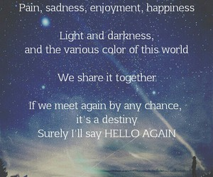 quote, hello again, and seyong image