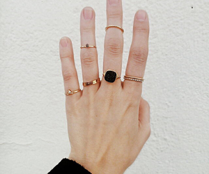 rings, hand, and style image