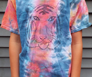 African, big cats, and tie dye image