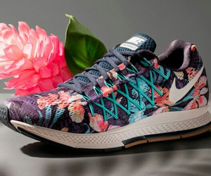 colors, flower, and nike image