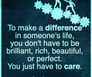 quote, care, and inspire image