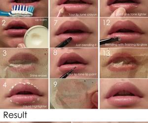lips, pretty, and make up image