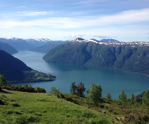 beautiful, fjord, and green image