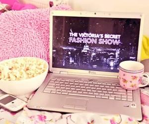 pink, Victoria's Secret, and popcorn image