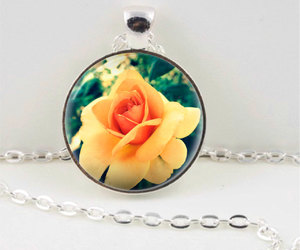 flower necklace, rose pendant, and rose necklace image