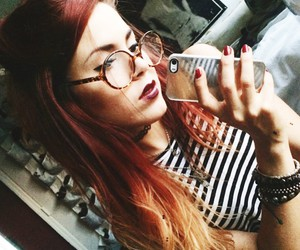 beauty, casual, and glasses image
