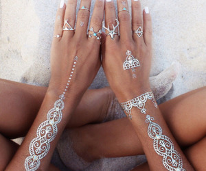 beach, bohemian, and silver image