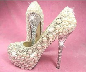 shoes, pearls, and heels image
