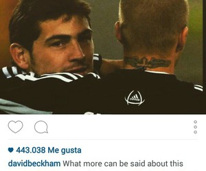 David Beckham and iker casillas image