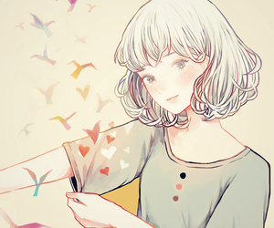 animation, girl, and illustration image