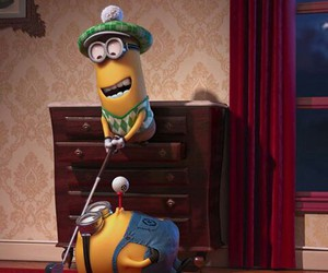 minions, golf, and funny image