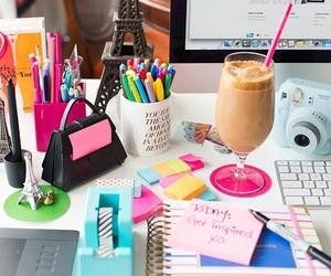 school, bedroom, and desk image