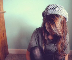 girl, hair, and hat image