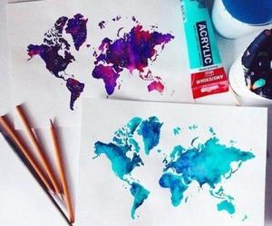 world, art, and drawing image