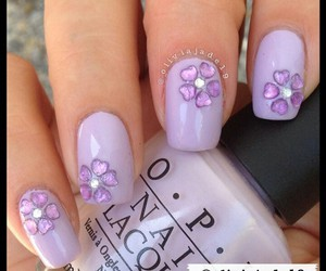 nail art, nails, and purple nails image
